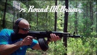 Romanian 75 Round AK-47 Drum (top Loading) Review (HD)
