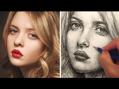 How to Draw a Pretty Face with Pencil