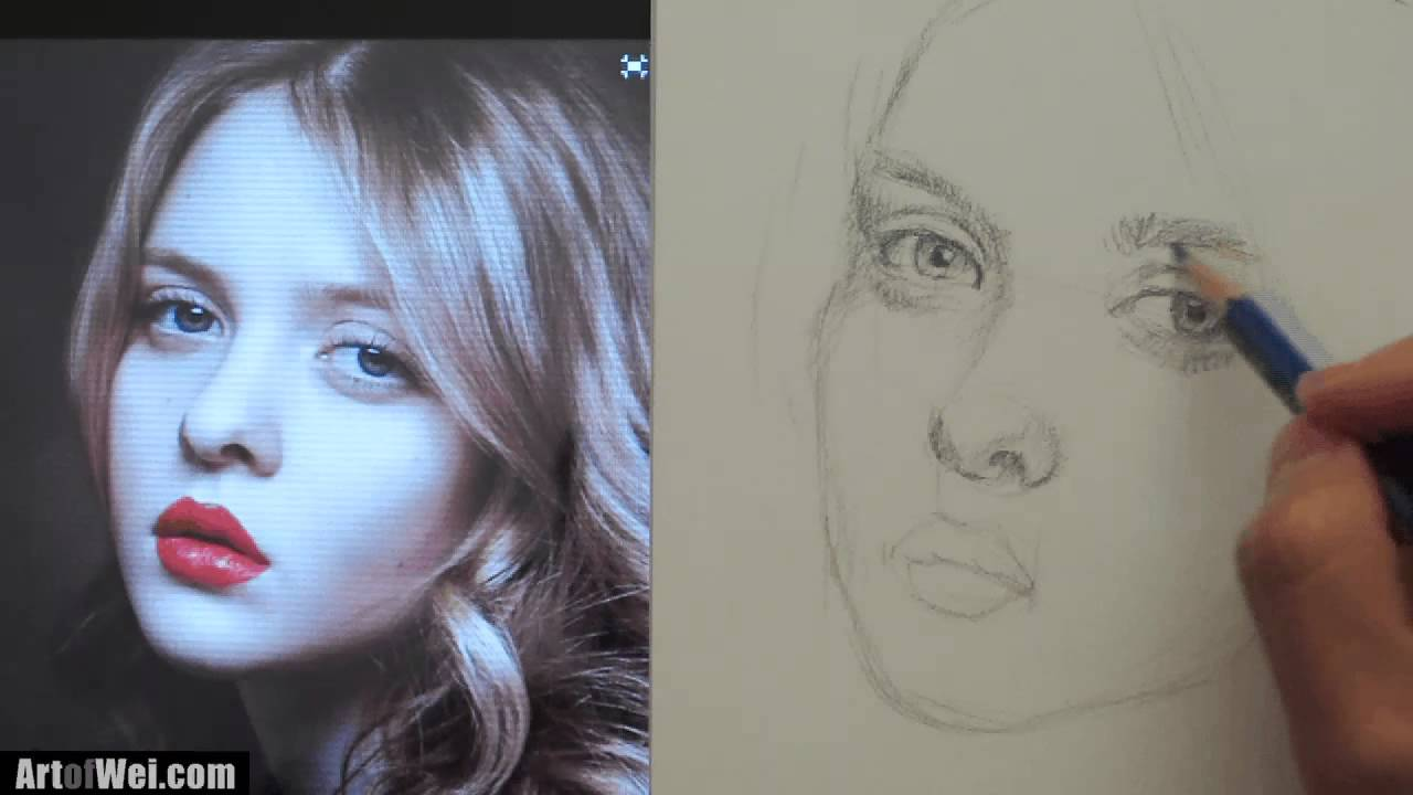 How to draw a pretty face with pencil youtube