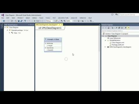 How To Create Uml Class Diagram Using Visual Studio Youtube