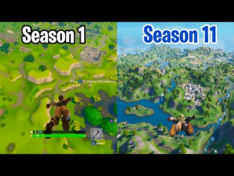 The EVOLUTION Of Fortnite: Battle Royale! (Gameplay From Seasons 1-11)