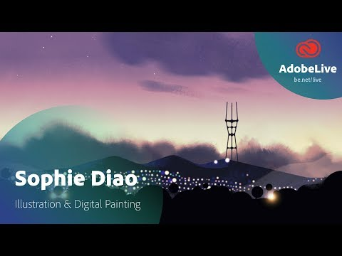 Live Illustration & Digital Painting with Sophie Diao 1/3