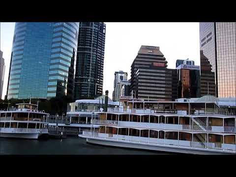Approach to Eagle Street Pier in Brisbane Australia