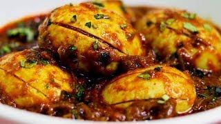 പൊരിച്ചെടുത്ത മുട്ട മസാല    Fried Egg Masala Gravy    Anda Masala    Shamees Kitchen