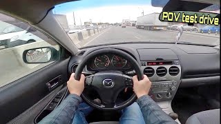 2004 Mazda 6 2.3 AT POV test drive review