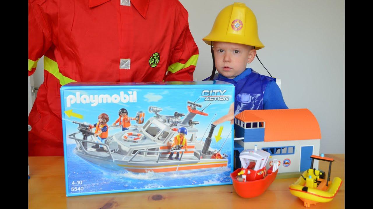 Best Fireman Sam Toys Kids : Giant fire rescue boat fireman sam build daddy
