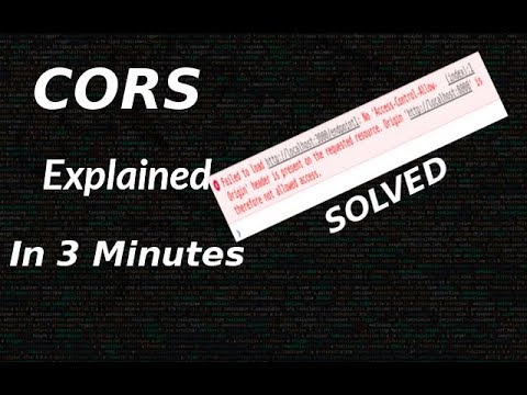 CORS quick explaination and demo [CORS error solved]