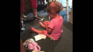 Ellie potty training!