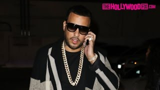 French Montana Arrives To Ace Of Diamonds In A White Ferrari 11.9.15 - TheHollywoodFix.com