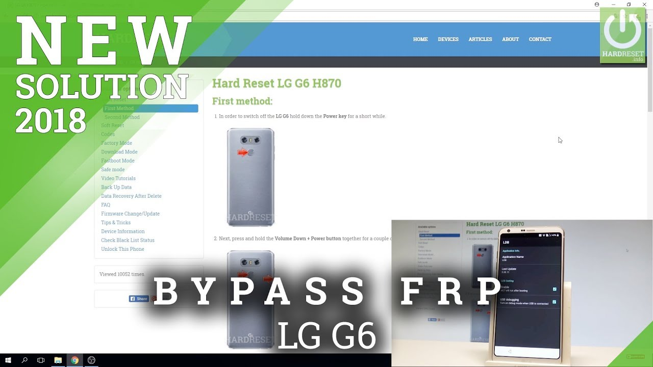LG phones FRP bypass video: - GSM-Forum