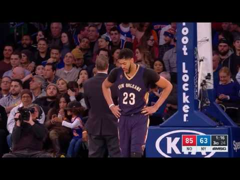 Kyle O'Quinn HARD FOUL on Anthony Davis [SCARY FALL] | O'Quinn Ejected | Knicks vs Pelicans