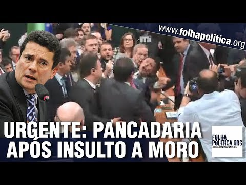 URGENTE: Deputado do PSOL xinga Sergio Moro de ladrão e causa pancadaria na Câmara