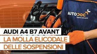 Come sostituire la molla elicodale delle sospensioni frontali AUDI A4 B7 AVANT [TUTORIAL]