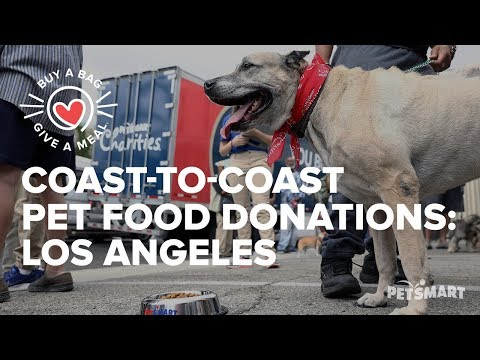 Coast-to-Coast Pet Food Donations: Pets are Wonderful Support LA