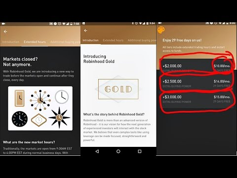 ROBINHOOD GOLD │After Hours Trading & Margin