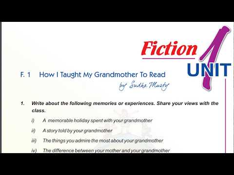 How I taught my grandmother to read class 9 full explanation