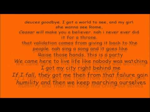 Can't Hold Us Lyrics- Macklemore and Ryan Lewis (slow)