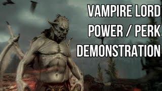 Skyrim Dawnguard - Vampire All Perks Demo