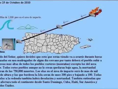 ORIGINAL ASTEROID PROPHECY FOR PUERTO RICO   ASTEROID IMPACT   TSUNAMI ENGLISH