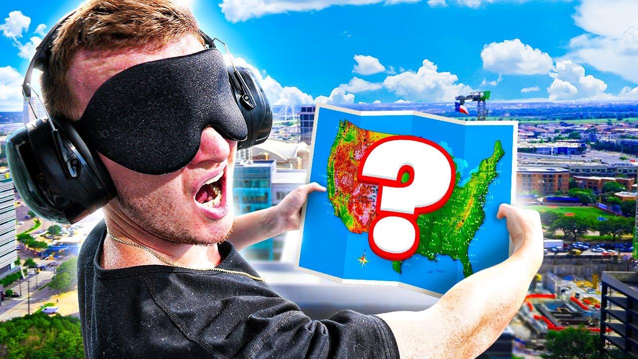 I Got BLINDFOLDED & Randomly Dropped In America Challenge!