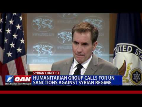 Humanitarian Group calls for UN Sanctions Against Syrian Regime