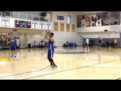 Thumbnail: Durant, Stephen Curry, Klay dunk - Warriors (0-0) morning shootaround before Game 1 vs Utah Jazz