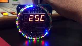Diy Ds1302 Rotation Led Electronic Clock Kit 51 Scm - My Results