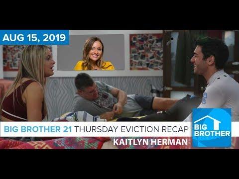 Big Brother 21 Thursday Night Aug 15 Eviction Recap | Kaitlyn Herman #BB21