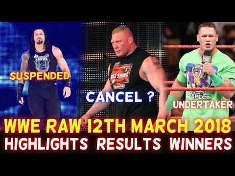 WWE Monday Night Raw 12th March 2018 Hindi Highlights - Roman Reigns | John Cena | Results Winner thumbnail