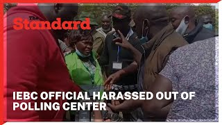 IEBC official harassed out of polling center by Senator Malala\'s team at Munami Primary in Matungu
