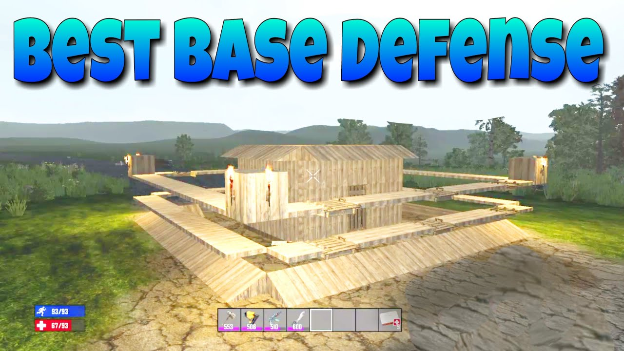 7 Days To Die Console The Best Base Defense Youtube