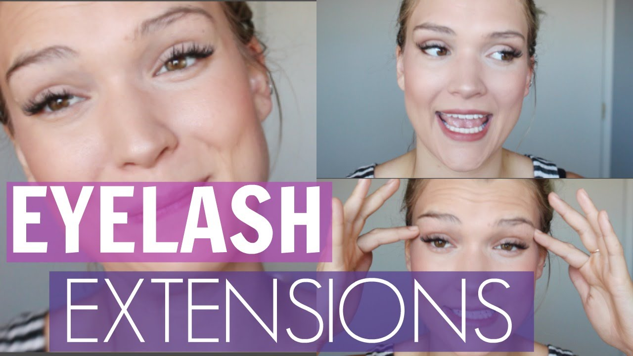 Eye Lash Extensions Every Day Makeup Routine Youtube