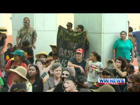 Aboriginal Protesters Burn Australian Flag at Parliament House after Australia Day