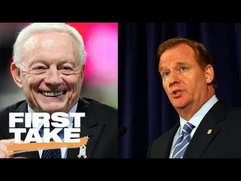 First Take reacts to Jerry Jones and Roger Goodell in a 'state of war' | First Take | ESPN