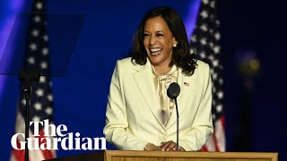 Kamala Harris's historic victory speech in full: 'You chose truth'
