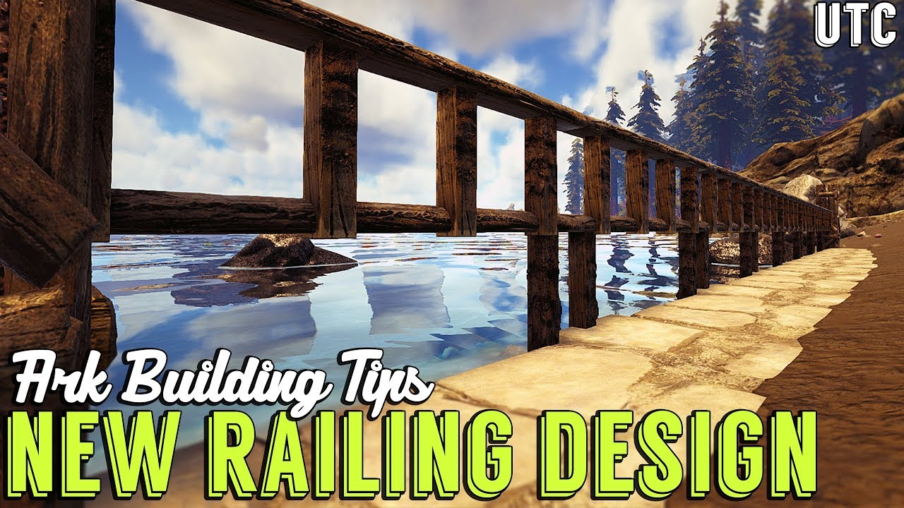New Railing/Fence Design :: Ark Building Tip # 1 :: S+ Wooden Railings +  Wooden Fence Foundations