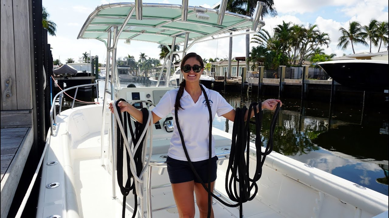 HOW TO TIE A BOAT UP AT THE DOCK