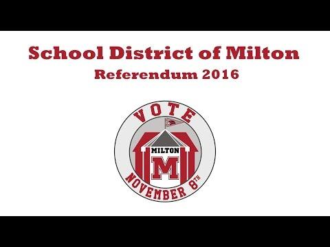 School District of Milton (Referendum 2016)