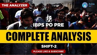 Shift 2 | IBPS PO Pre Analysis & Expected Cutoff | 1 P.M.