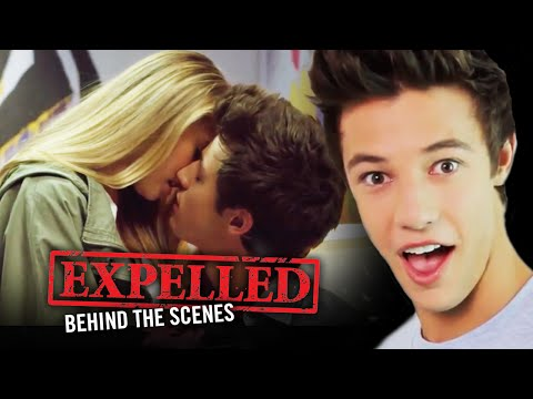 Cameron Dallas and Expelled Cast FIRST KISS Stories! | Expelled Movie Behind the Scenes