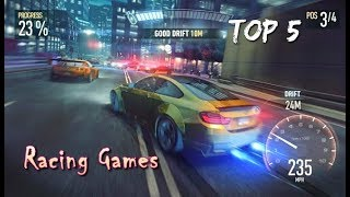 Top 5 Car Racing Games For Android (Mobile) 🎮 Free Best Racing Game offline FHD (Good Graphics)