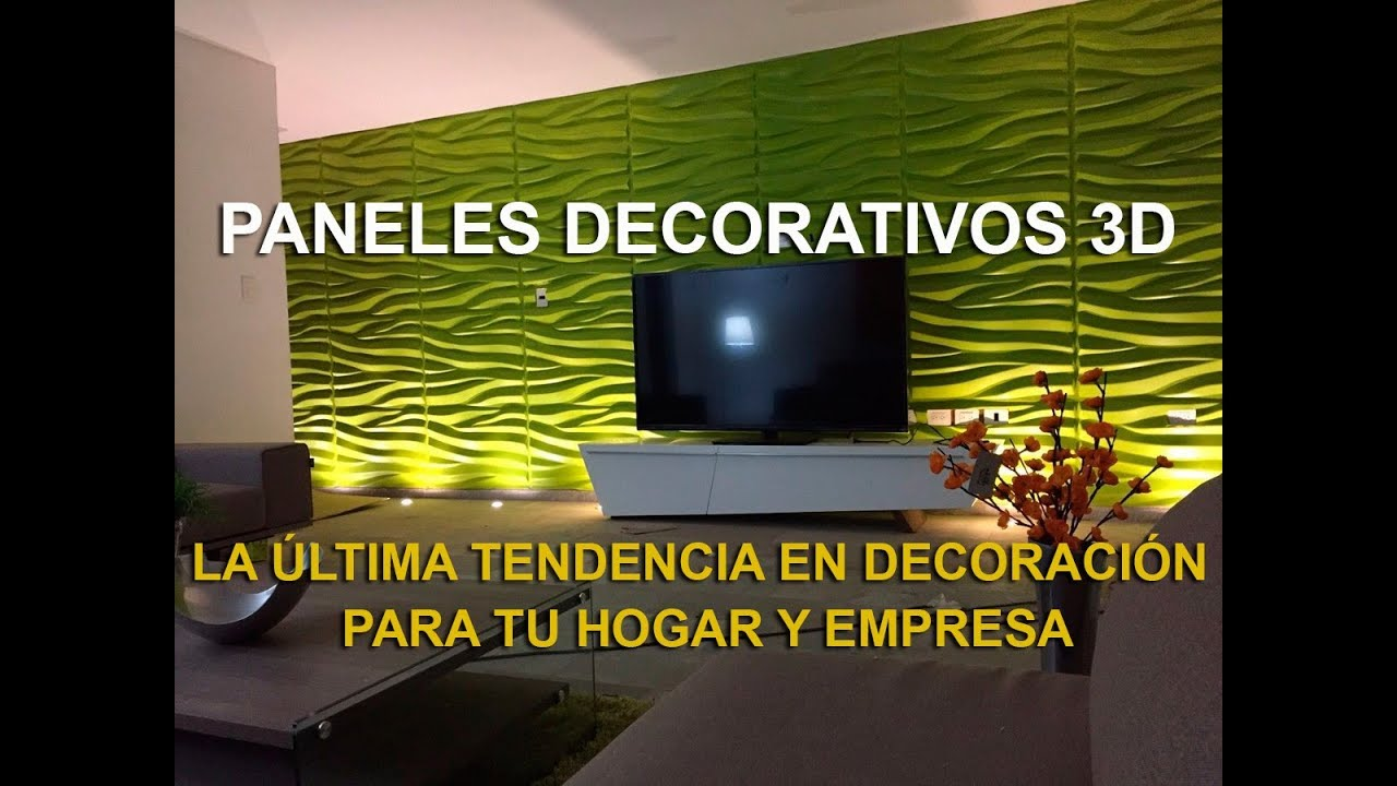 Paneles decorativos 3d paredes 3d 2017 youtube - Paneles decorativos 3d ...