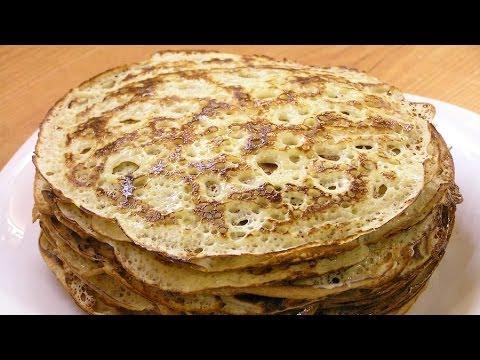 Блинчики ажурные / How to make Openwork pancakes ♡ English subtitles
