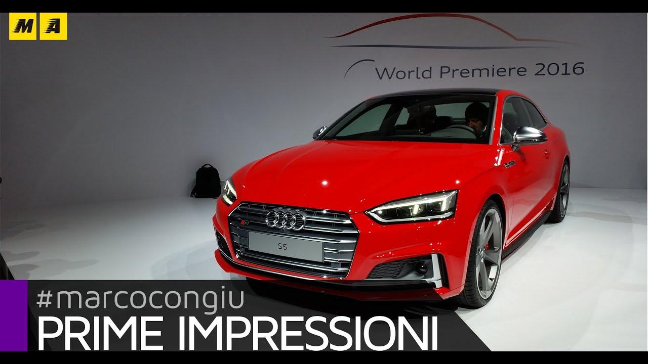 Nuova Audi A E S Prime Impressioni YouTube - Prime audi