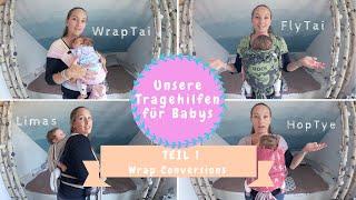 Tragehilfen für Neugeborene | Limas, HopTye, FlyTai & WrapTai |Kathi´s Daily Life