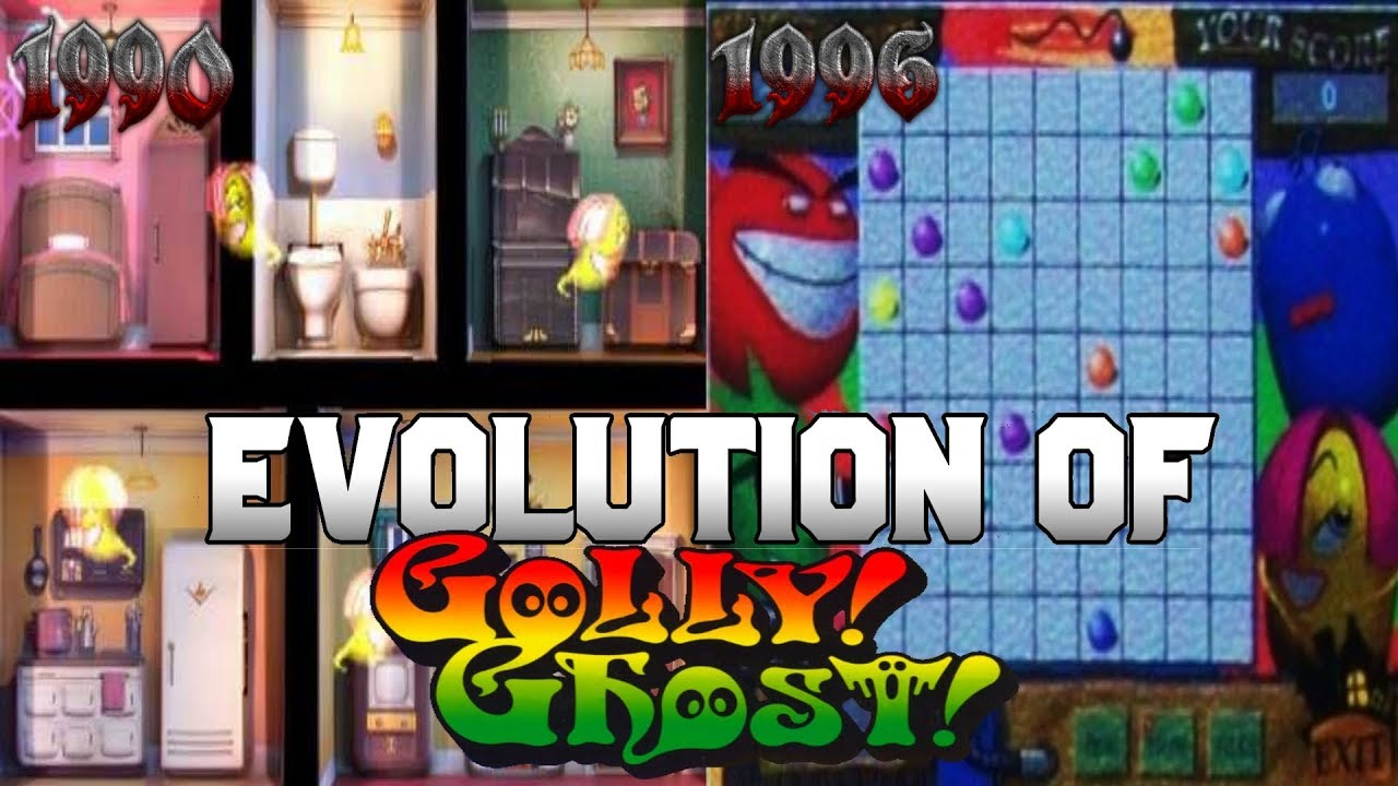 Graphical Evolution of Golly! Ghost! (1990-1996)