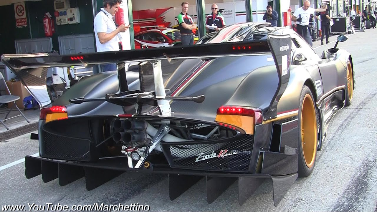 Pagani Zonda Revolucion DEMONIC Sound! - YouTube