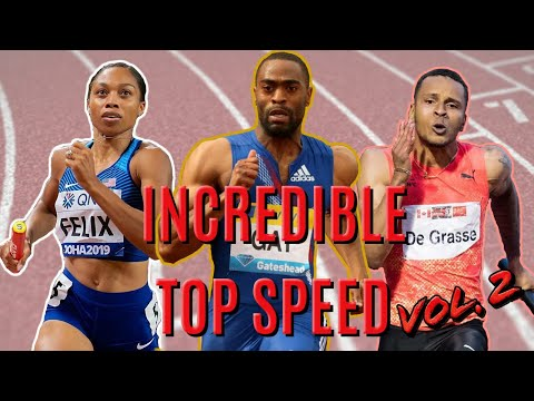 Sprinters With Incredible Top Speed/Speed Endurance • Part 2 - Sprinting Montage
