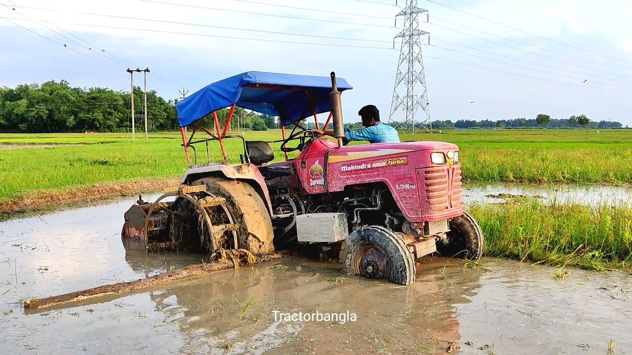 Mahindra 595 Di Turbo Stuck In Mud | tractor stuck in mud video | tractor bangla