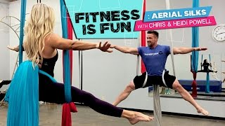 Fitness is Fun: Aerial Silks with Chris and Heidi Powell
